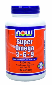 Now Foods Super Omega 3-6-9 1200 mg - 180 Softgels