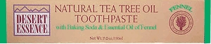 Tea Tree Oil Fennel Toothpaste by Desert Essence - 7oz.