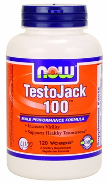 Now Foods TestoJack 100 - 120 Vegetarian Capsules