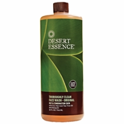 Thoroughly Clean Face Wash w/Tea Tree Oil by Desert Essence - 32oz. Economy Refill Size