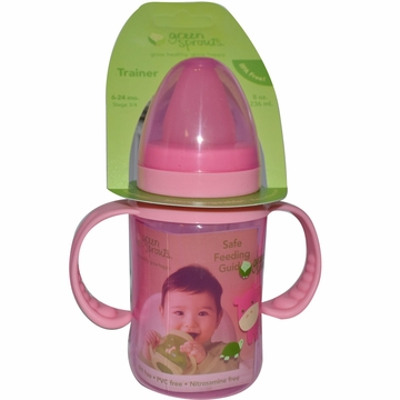 Trainer Bottle Stage 3 Plus Pink by Green Sprouts - 8oz.