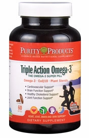 Triple Action Omega-3 Super Pill by Purity Products - 60 Soft Gels