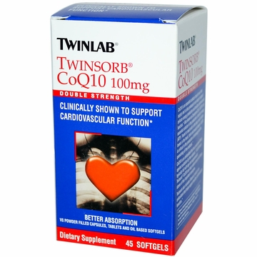 Twinlab Twinsorb CoQ10 100 mg - 45 Softgels