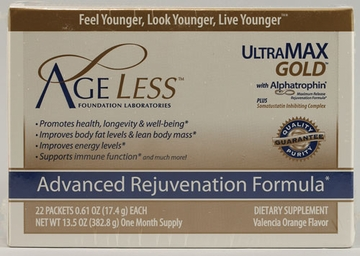 Ageless Foundation Ultramax Gold Powder (Valencia Orange) - 22 Packets