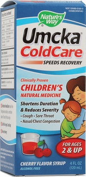 Umcka ColdCare Children's Cherry Flavor Syrup by Nature's Way - 4oz.