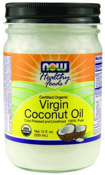 Now Foods Virgin Coconut Oil Certified Organic - 12 Fluid Ounces