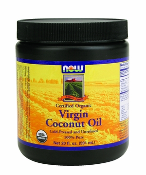 Now Foods Virgin Coconut Oil Certified Organic - 20 Fluid Ounces