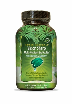 Vision Sharp Precision Eye Health by Irwin Naturals - 42 Liquid Softgels