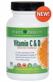 Vitamin C & D Booster Formula by Purity Products - 90 Capsules