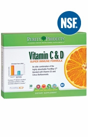 Vitamin C & D Super Immune Formula by Purity Products - 30 Capsules