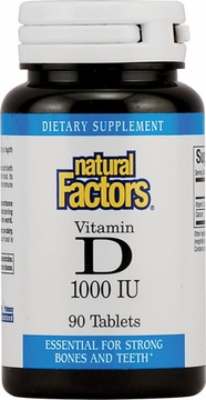 Vitamin D3 1000 IU by Natural factors - 90 Tablets