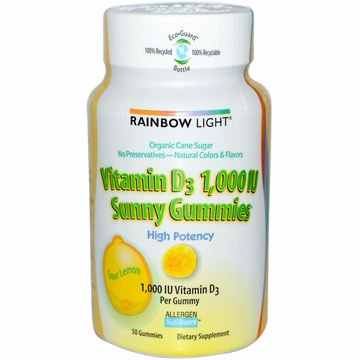Rainbow Light Vitamin D3 Sunny Gummies 1000 IU - 50 Gummies