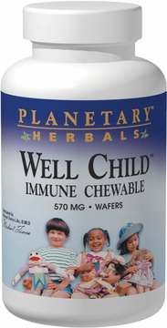 Planetary Herbals Well Child Immune Chewable 570 mg - 30 Wafers