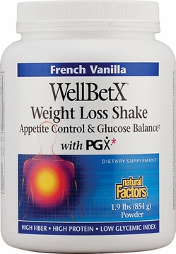 WellBetX Weight Loss Shake French Vanilla by Natural Factors - 1.9 lbs.