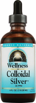 Source Naturals Wellness Colloidal Silver 30 ppm - 4 Fluid Ounces