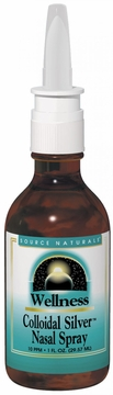 Source Naturals Colloidal Silver Nasal Spray 10 ppm - 1 Fluid Ounce