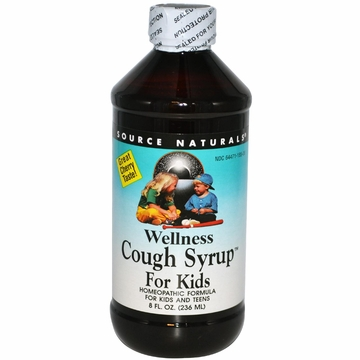 Source Naturals Wellness Cough Syrup for Kids - 8 Fluid Ounces