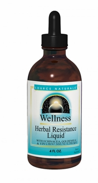 Source Naturals Herbal Resistance Alcohol Free Liquid - 4 Fluid Ounces