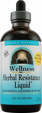 Source Naturals Herbal Resistance Alcohol Free Liquid - 8 Fluid Ounces