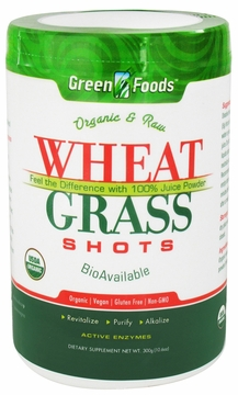 Green Foods Organic Wheat Grass Shots - 10.6 Ounces
