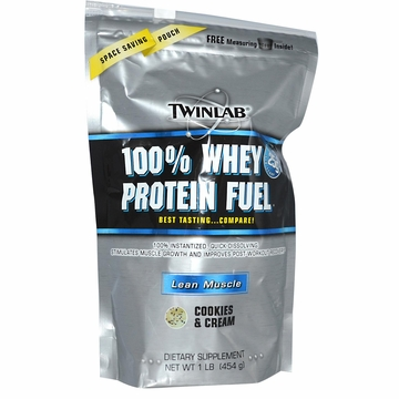 Twinlab 100% Whey Protein Fuel Powder Cookies & Cream Flavor - 1 Pound