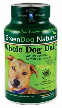 Green Dog Naturals Whole Dog Daily - 60 Chewable Tablets