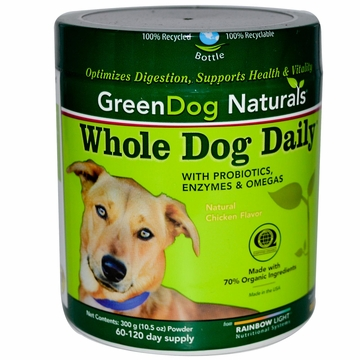 Rainbow Light Greendog Naturals Whole Dog Daily Powder - 300 Grams