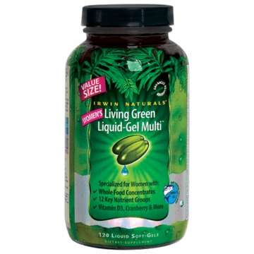 Women's Living Green Liquid-Gel Multi Vitamin by Irwin Naturals - 120 Liquid Softgels