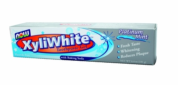 Now Foods XyliWhite Platinum Mint Toothpaste Gel - 6.4 Ounces
