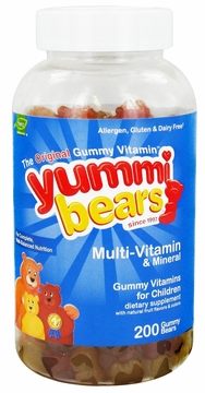 Yummi Bears Children's Multi-Vitamin and Minerals by Hero Nutritional Products - 200 Gummies