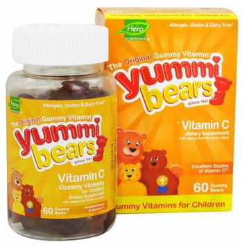 Yummi Bears Children's Vitamin C by Hero Nutritional Products - 60 Gummies