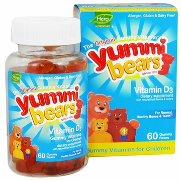 Yummi Bears Children's Vitamin D3 by Hero Nutritional Products - 60 Gummies