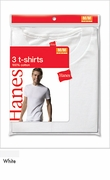 3 Pack Hanes White T-Shirts