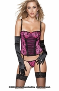 Aol Ridgid-Lycra Gathered Front Bustier w G-String - Clearance