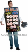 Big Balls Scratch-Off Ticket Costume