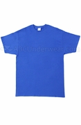 Big size night tshirt, Tall Cotton T-Shirt - Royal Blue