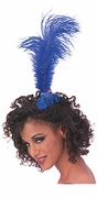 Blue Feather Tiara