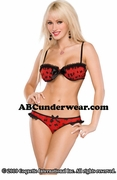 Bow Mesh Bra & Panty Set