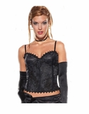 Brocade Bustier with Zipper