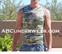 Camouflage Muscle Shirt Clearance