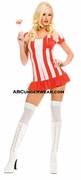 Candy Girl Dress With Ruffle Trim Costume - Clearance