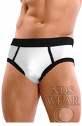 Classic Contrast Highlight Brief - White and Black