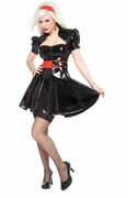 Coquette Darque Dress W/Zipper & Detachable Belt (as is)