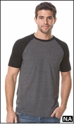 COTTON SHEER CREW NECK SHORT SLEEVE RAGLAN