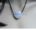 Crackle Quartz Heart Choker