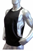 Cutout Muscle Shirt Tank - Black