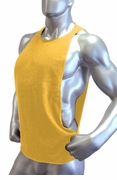 Cutout Muscle Shirt Tank - Gold Yellow