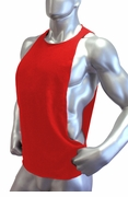 Cutout Muscle Shirt Tank -Red