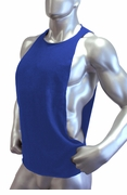 Cutout Muscle Shirt Tank - Royal Blue