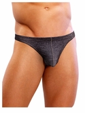 Denim look Men's Pouch Thong Underwear